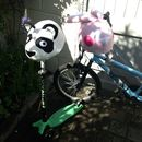 Child's Panda Hi Vis Helmet Cover
