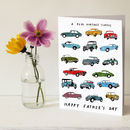 Vintage Cars Father's Day Card