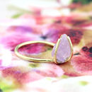Single Rough Amethyst Ring