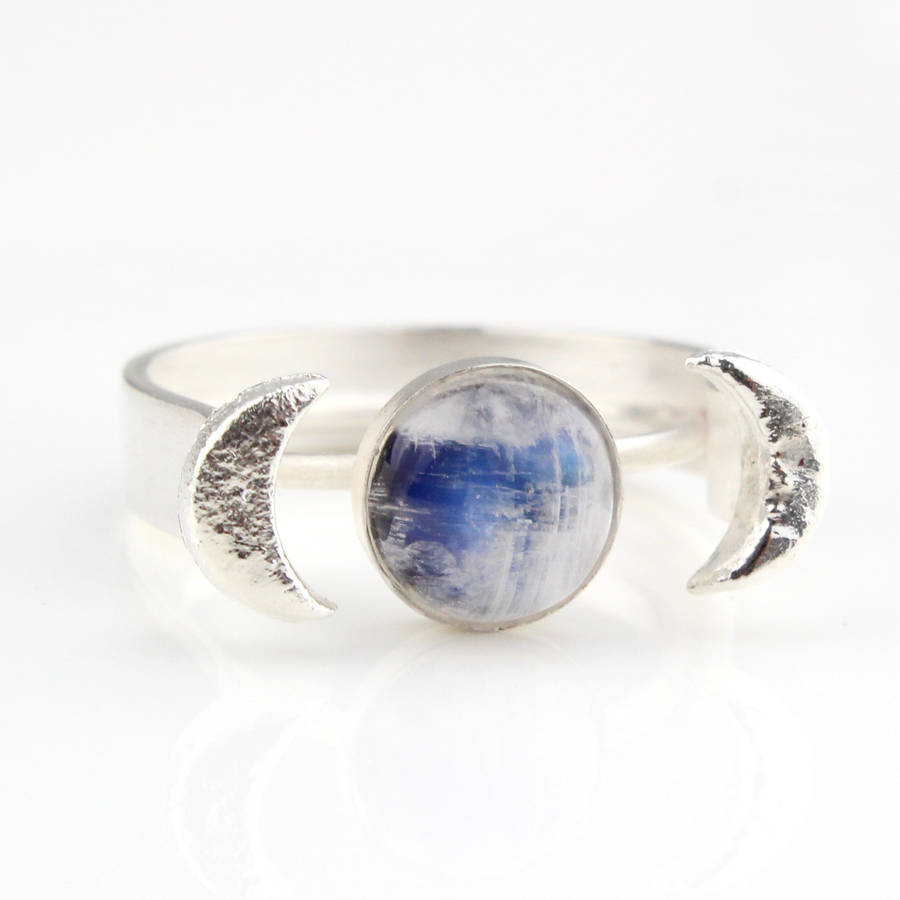 Sterling Moonstone Ring