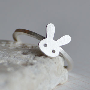 Sterling Silver Bunny Rabbit Ring - women's jewellery