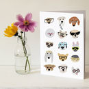 Dogs With Glasses Greeting Card