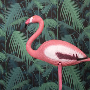 Standing Pink Flamingo - decorative accessories