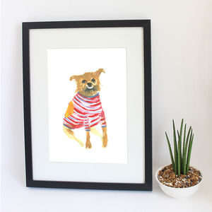 Bespoke Custom Wonky Pet Portrait - canvas prints & art