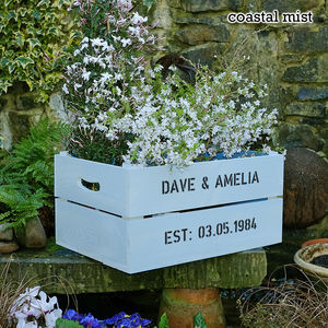 Personalised Pearl Wedding Anniversary Crate