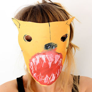Scary Paper Bear Mask - pretend play & dressing up