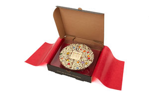 Congratulations! And Well Done! Chocolate Pizza - chocolates