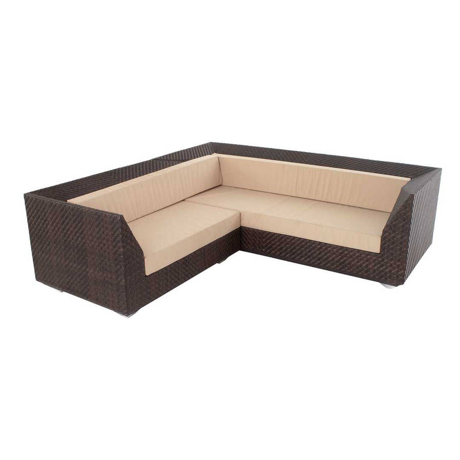 ocean maldives rattan corner sofa with cushion by out