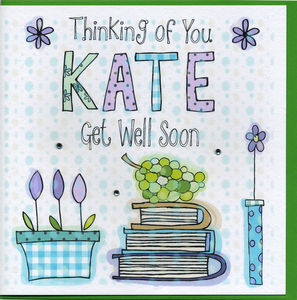 Personalised Get Well Card