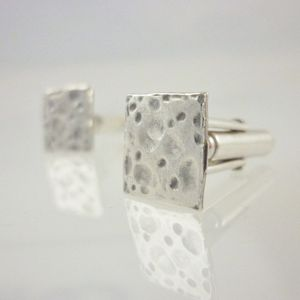 Silver Square Cufflinks - men's accessories