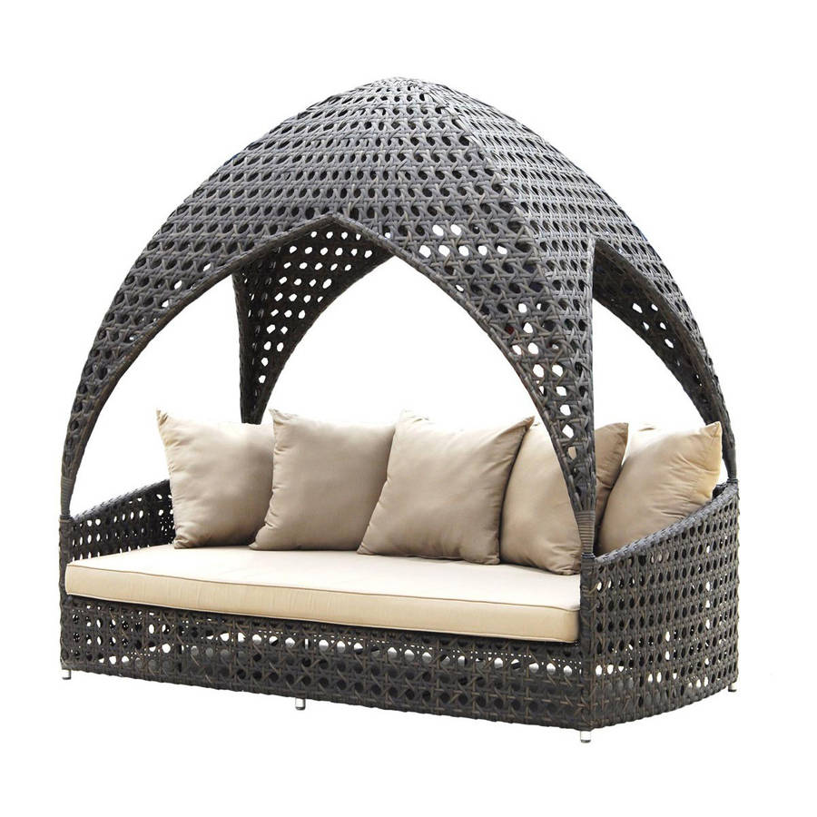 Ocean Rattan Day Bed By Out There Exteriors