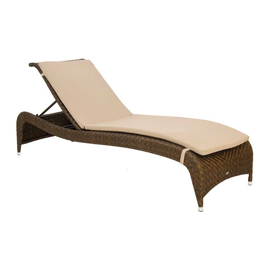 ocean adjustable stacking rattan sunbed by out there exteriors. Black Bedroom Furniture Sets. Home Design Ideas