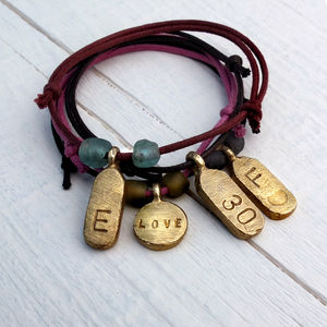 Personalised Tag Bracelet - men's jewellery
