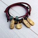 Personalised Tag Bracelet