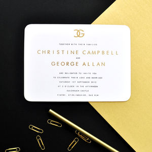 Christine Wedding Stationery Collection - invitations