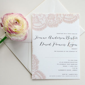 Lace Wedding Stationery - invitations