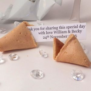 150 Personalised Wedding Fortune Cookie Wedding Favours - wedding favours