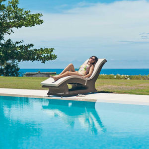 San Marino Raised Rattan Sun Lounger