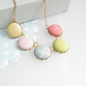 'Colourstuff' Fabric Button Necklace