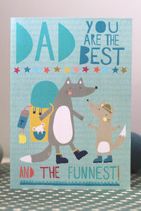Little Wolf Fathers Day Card