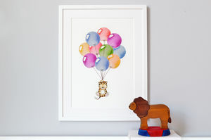 Personalised Bright Balloon Bunch Print - canvas prints & art for children