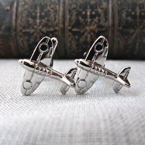 Spitfire Plane Cufflinks - cufflinks
