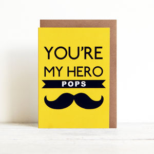 'You're My Hero' Card - winter sale