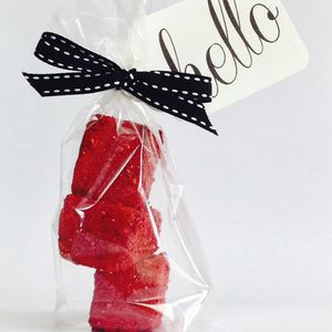 Personalised Double Raspberry Marshmallow Favours - edible favours
