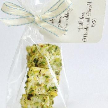 Pistachio And White Chocolate Marshmallow Favours