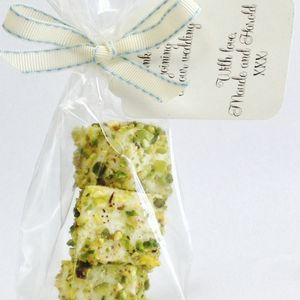 Pistachio And White Chocolate Marshmallow Favours - edible favours