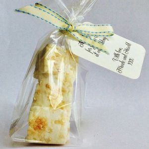 Personalised Salted Caramel Peanut Marshmallow Favours - edible favours