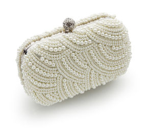 Eva Art Deco Pearl Clutch Bag - finishing touches for the guest