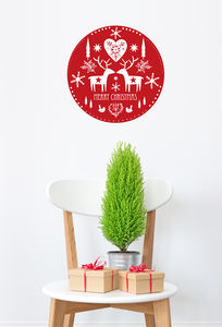 Scandinavian Christmas Wall Sticker
