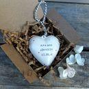 Personalised Ceramic Wedding Heart