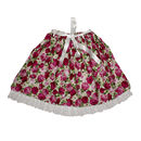 Girl's Lace Edged Rose Skirt - As In VOGUE
