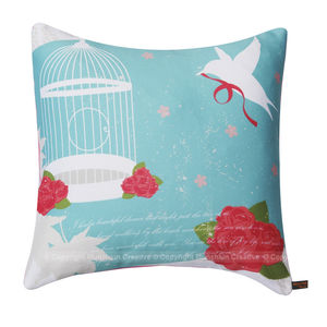 Bird Cage Vintage Cushion - winter sale