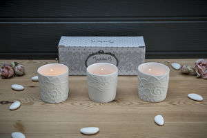 Three Porcelaine Tealight Holders - candles & candlesticks