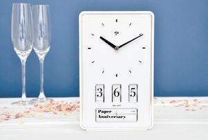 Wedding Anniversary Clock - clocks