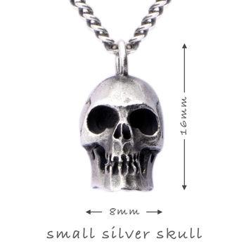 Small Silver Skull Pendant