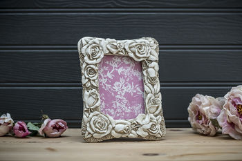 Rose And Bud Picture Frame