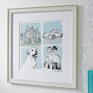 Dads Favourite Things Illustration - gifts for fathers