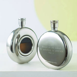 Round Window Hip Flask - shop by price