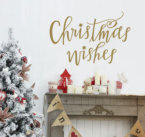 Christmas Wishes Christmas Wall Sticker - wall stickers