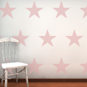 Large Stars Decorative Wall Stickers - baby's room
