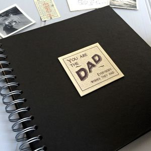 'You Are The Dad..' Retro Keepsake Album - gifts from adult children