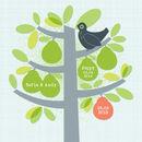 Tiny Family Pear Tree Personalised Print
