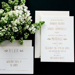 Hannah Stationery Collection - invitations