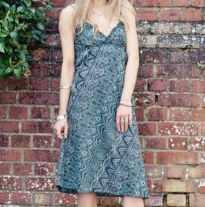 Cotton Summer Midi Dress - summer clothing
