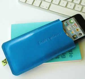 Leather Sleeve For iPhone - colour pop leather