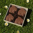 Four Handmade Chocolate Bunnies